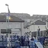 Construction of controversial Derry bonfire gets underway