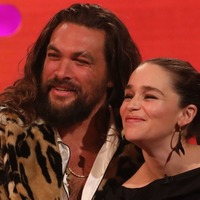 Game Of Thones star Emilia Clarke reunites with on-screen husband Jason Momoa