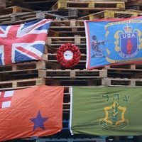 Name of murdered police officer displayed on republican bonfire