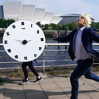 Johnson lookalike in 'race against the clock' as charity urges climate action