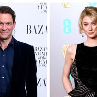 Dominic West and Elizabeth Debicki pictured as The Crown's Charles and Diana