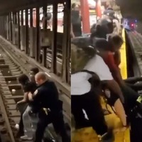 Person rescued from tracks in New York seconds before train arrives