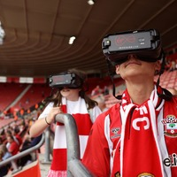 Visually impaired young Southampton fans get enhanced view special headsets