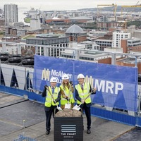 The Ewart marks topping out phase with 124,000 sq ft still on the market