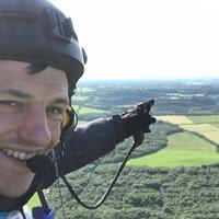 Man flies paramotor across the UK for Alzheimer's charity