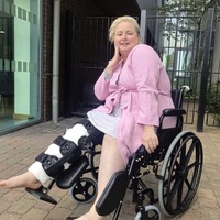 'Christ' on a bike: Derry Girls Sister Michael actress leaves hospital following 'clumsy accident'