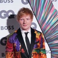 Ed Sheeran wears Elton John's multicoloured suit to GQ Men of the Year Awards