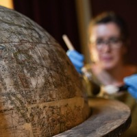 High-tech display shows off rare 'sea monster' globe dating back 400 years