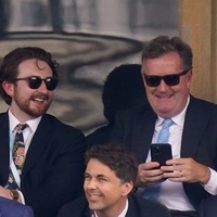 Piers Morgan pictured with ITV's director of television following Ofcom judgment