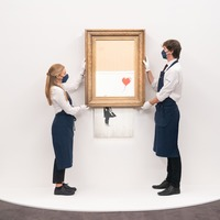 Banksy artwork which partially shredded itself goes back under the hammer