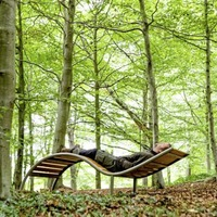 Installation of three forest bathing beds in south Belfast