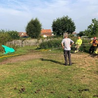 Horse stuck in pond rescued by 16 firefighters