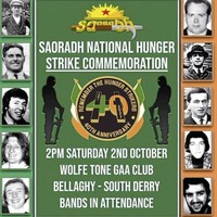 Bellaghy GAA club dismisses Saoradh hunger strike commemoration claims