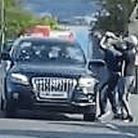 Footage shows west Belfast car attack