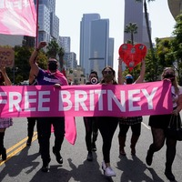 Jubilant Britney Spears fans celebrate singer's legal victory outside court