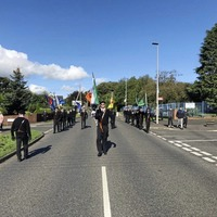 PSNI presence as Saoradh hunger strike parade takes place in Co Derry