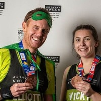 Student completes London Marathon with the man who saved her life