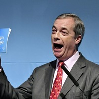 Former UKIP leader Nigel Farage hoaxed into saying `up the RA' in a paid for birthday message