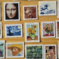 Cross-stitcher sews mini-gallery of famous masterpieces