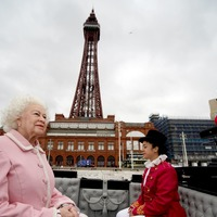 Waxwork of the Queen receives royal welcome in Blackpool