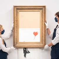 Partially shredded Banksy painting sells for more than £18m