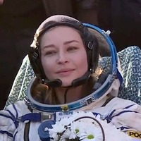 Russian filmmakers land after shoot aboard space station