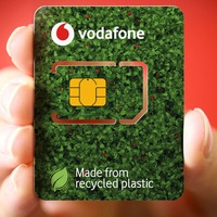 Vodafone switches to recycled plastic Sim cards