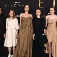 Angelina Jolie joined by children for Eternals premiere in LA