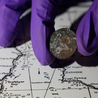 Victorian coin found under mast of Nelson's flagship to go on display
