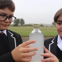 Pupils capture carbon dioxide in bottle to send world leaders at Cop26