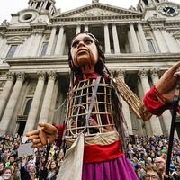 Refugee puppet Little Amal welcomed at St Paul's Cathedral